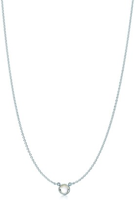 Tiffany & Co. Elsa Peretti Color by the Yard pendant in silver with a rainbow moonstone