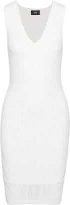 Line Spencer Pointelle-knit Mini Dress
