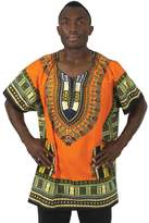 "African Inspired Fashions King-Sized Traditional Print Unisex Dashiki Top - Up to 68"" Chest - Available in Several Colors, 1X"