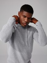 Frank + Oak Bouclé Cotton-Blend Pull-Over Hoodie in Grey