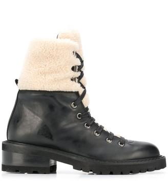 Paul Warmer Faux-Fur Military Boots