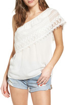 Socialite Crochet One-Shoulder Top