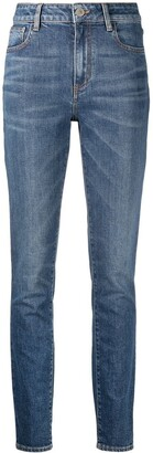 ATTICO High-Waist Slim-Fit Jeans