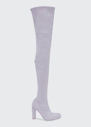 Alexander McQueen Stretch Napa Thigh-High Boots