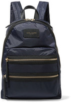 Marc Jacobs Biker Leather-trimmed Shell Backpack - Midnight blue
