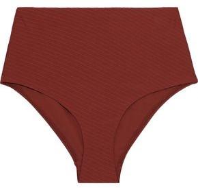 Zimmermann Ribbed High-rise Bikini Briefs