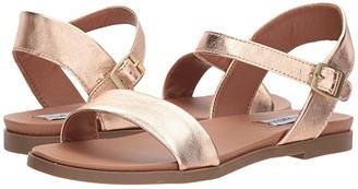 Steve Madden Dina Sandal (White Leather) Women's Sandals