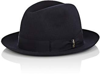 Borsalino Men's Marengo Medium-Brim Rabbit Fur Felt Fedora - Navy