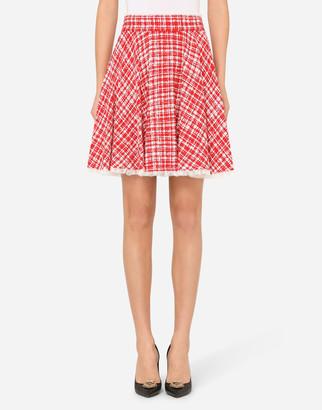 Dolce & Gabbana Tweed Circle Miniskirt