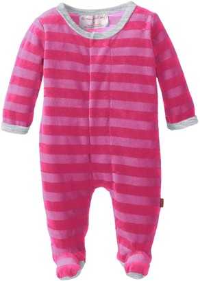 Magnificent Baby Baby-Girls Infant Velour Footie with Applique