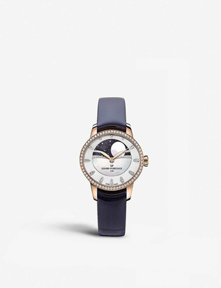 Girard Perregaux 80496D52A751-CK4A Cat's Eye Celestial rose gold, stainless steel, leather and diamond watch