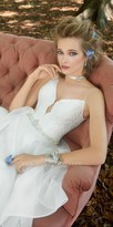 Camille La Vie Plunging V Neck Organza Tiered Wedding Dress