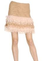Blumarine Wool Mohair Boucle Knit Skirt