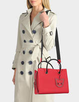 Karl Lagerfeld K/Karry All Shopper Bag in Ladybird Small Pebble Leather