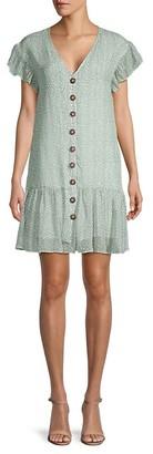 Lucca Ellias Button-Front Dress