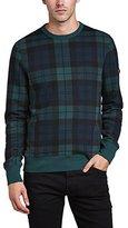 Ben Sherman Men's Print Crew Neck Blackwatch Sweatshirt