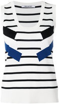 Neil Barrett striped knit tank - women - Nylon/Viscose - M