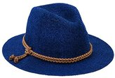San Diego Hat Company Women's Fedora with Faux Suede Braided Band