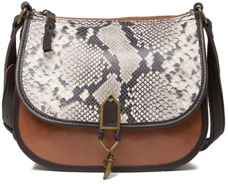 The Sak Playa Snake Print Leather Saddle Bag