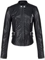 Escalier Women's Faux Leather Zipper Motorcycle Rider Bomber Jacket