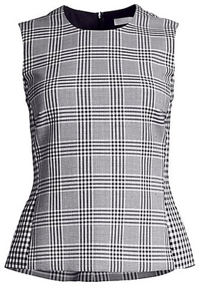 HUGO BOSS Imaia Mixed Glen Check Stretch Sleeveless Top