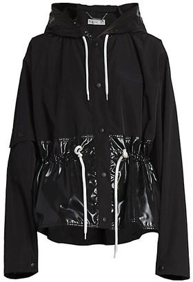 Givenchy Gathered & Hooded Windbreaker
