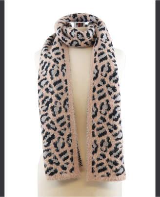 MARCUS ADLER Leopard Eyelash Scarf