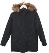 Bonpoint Girls' Fur-Trimmed Hooded Coat