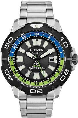 Citizen Eco-Drive Men's Promaster GMT Stainless Steel Dive Watch - BJ7128-59G
