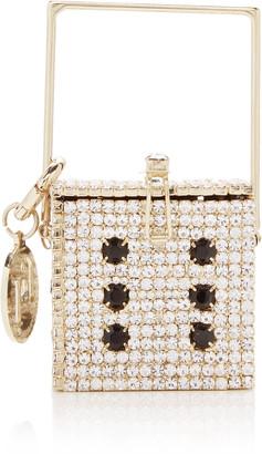 Rosantica Smorfia Crystal-Embellished Brass Mini Top Handle Bag