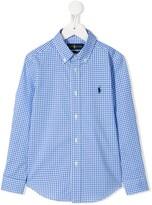 Ralph Lauren Kids check-print button-down shirt