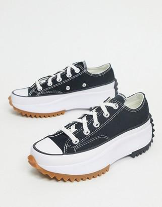 Converse Run Star Hike Ox sneakers in black