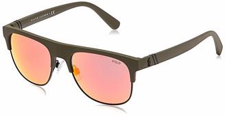 Polo Ralph Lauren Men's 0Ph4132 52166Q 55 Sunglasses