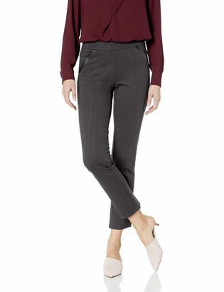 Rafaella Women's Petite Ponte Comfort Fit Slim Leg Pants