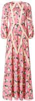 Vilshenko long-sleeved floral gown
