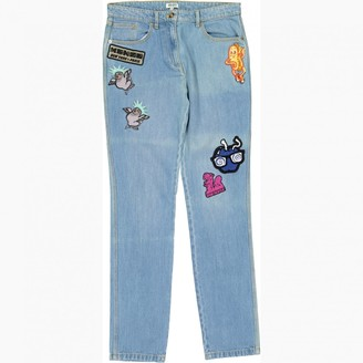Kenzo Blue Cotton Jeans for Women