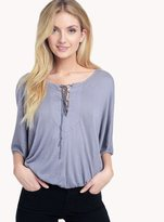 Ella Moss Gioannia Lace Up Top
