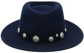 Maison Michel Coin-Embellished Fedora Hat