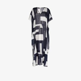 ODYSSEE V-neck cotton kaftan dress