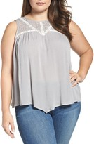 Democracy Plus Size Women's Lacy Tank