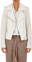 Robert Rodriguez Women's Suede Moto Jacket-White