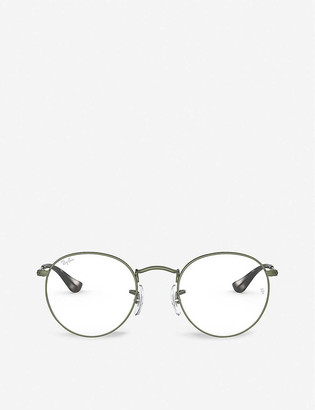 Ray-Ban RX3447V metal and glass round-frame glasses