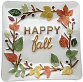 "Harvest ""Happy Fall"" Glass Platter"