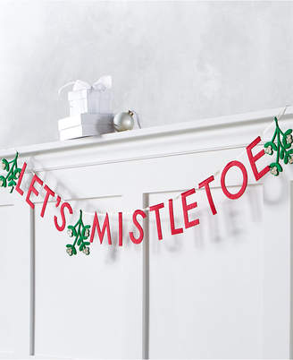 """Holiday Lane Christmas Cheer Red, White and Green """"Let Mistletoe"""" Garland"""