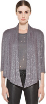 Haute Hippie Sequin Slouchy Blazer in Grey