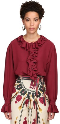Etro Ruffled Silk Georgette Shirt