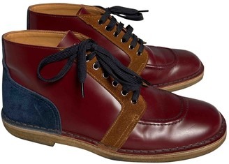 Prada Burgundy Leather Boots