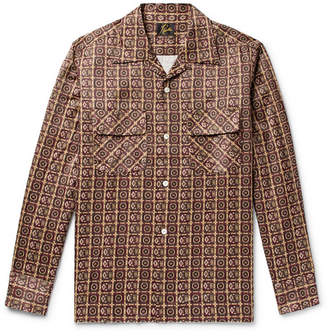 Needles Camp-Collar Printed Sateen Shirt