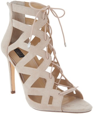 G.I.L.I. Got It Love It G.I.L.I. Lace-up Cut Out Heel Sandals - Floriana