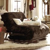 Futon Slipcover, Luxe Faux Fur Brown, Twin